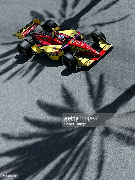 Andrew Ranger of Montreal Quebec driving his MiJack Conquest Racing FordCosworth XFE Lola during qualifying for the Bridgestone Presents The Champ...