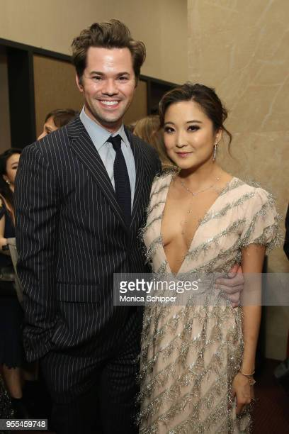 Andrew Rannells and Ashley Park attend the 33rd Annual Lucille Lortel Awards on May 6 2018 in New York City