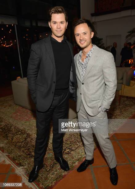 Andrew Rannells and guest attend the 2018 GQ Men of the Year Party at a private residence on December 6 2018 in Beverly Hills California