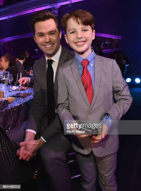 Andrew Rannells and Iain Armitage pose during CNN Heroes 2017 at the American Museum of Natural History on December 17 2017 in New York City 27437_015