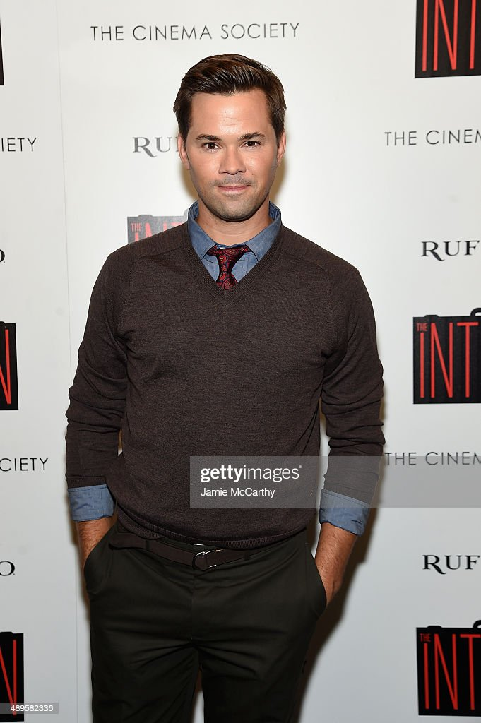 Andrew Rannells attends a screening of Warner Bros. Pictures 'The Intern' hosted by The Cinema Society And Ruffino on September 22, 2015 in New York City.