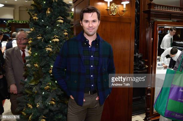 Andrew Rannells attends as Brooks Brothers celebrates the holidays with St Jude Children's Research Hospital on December 12 2017 in New York City
