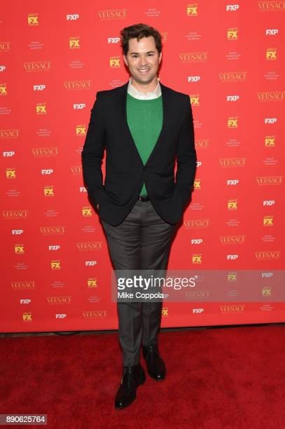 Andrew Rannells attends 'The Assassination Of Gianni Versace American Crime Story' New York Screening at Metrograph on December 11 2017 in New York...