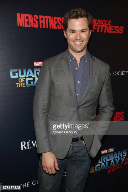 Andrew Rannells attends The Cinema Society with Men's Fitness Muscle Fitness and Remy Martin host a screening of Marvel Studios' 'Guardians of the...
