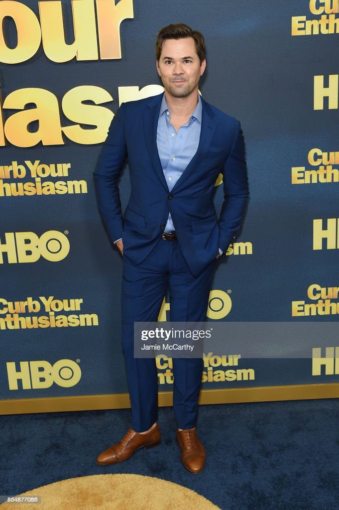 Andrew Rannells attends the 'Curb Your Enthusiasm' season 9 premiere at SVA Theater on September 27, 2017 in New York City.