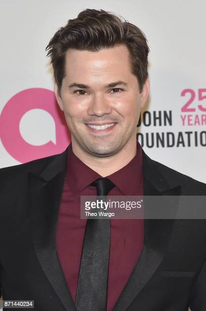 Andrew Rannells attends the Elton John AIDS Foundation Commemorates Its 25th Year And Honors Founder Sir Elton John During New York Fall Gala at...