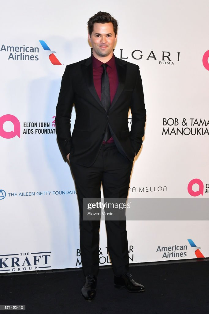 Andrew Rannells attends the Elton John AIDS Foundation's Annual Fall Gala with Cocktails By Clase Azul Tequila at Cathedral of St. John the Divine on November 7, 2017 in New York City.