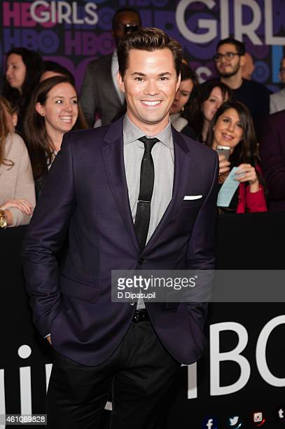 Andrew Rannells attends the 'Girls' Season Four Premiere at the American Museum of Natural History on January 5 2015 in New York City