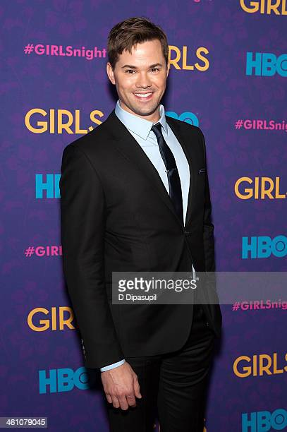 Andrew Rannells attends the 'Girls' season three premiere at Jazz at Lincoln Center on January 6 2014 in New York City