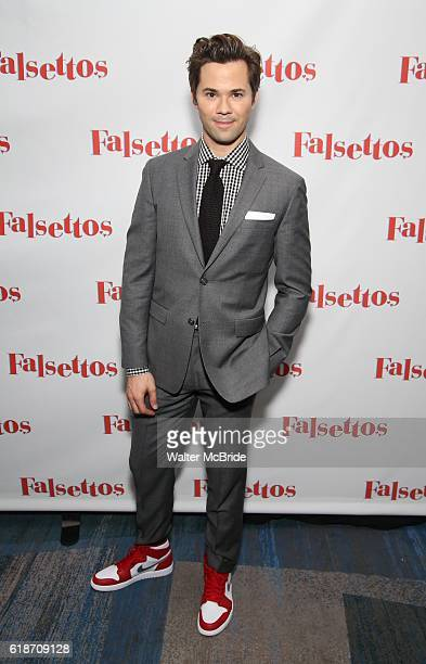 Andrew Rannells attends the Opening Night After Party for 'Falsettos' at the New York Hilton Hotel on October 27 2016 in New York City