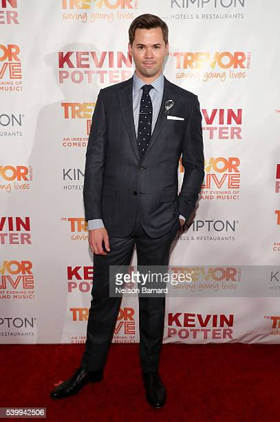 Andrew Rannells attends The Trevor Project's TrevorLIVE New York on June 13 2016 in New York City