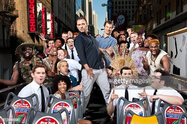 Andrew Rannells Josh Gad Matt Stone Nikki M James Rory O'Malley and Trey Parker