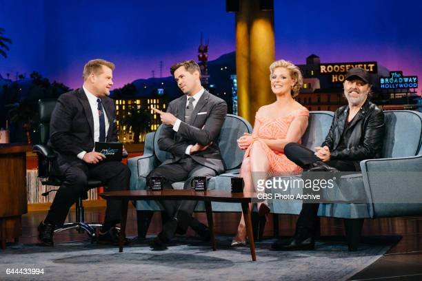 Andrew Rannells Katherine Heigl and Lars Ulrich chat with James Corden during 'The Late Late Show with James Corden' Tuesday February 14 2017 On The...