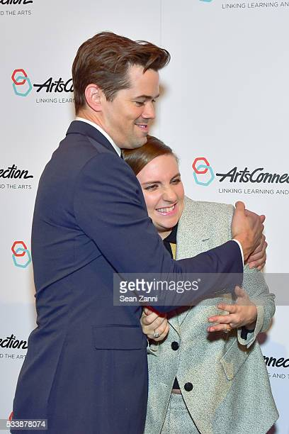 Andrew Rannells Lena Dunham and Amy Cappellazzo attend ArtsConnection 2016 Benefit Celebration at 583 Park Avenue on May 23 2016 in New York City