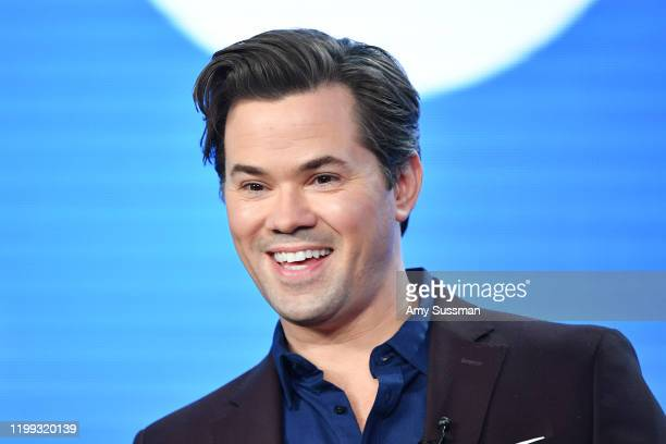 Andrew Rannells of Black Monday speaks during the Showtime segment of the 2020 Winter TCA Press Tour at The Langham Huntington Pasadena on January 13...