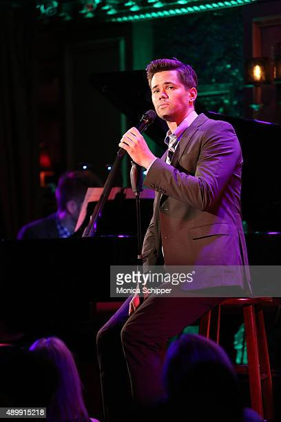 Andrew Rannells performs on stage at YoungArts Awareness Day at 54 Below on September 24 2015 in New York City