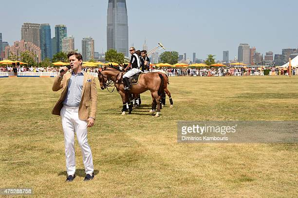 Andrew Rannells sings at the EighthAnnual Veuve Clicquot Polo Classic at Liberty State Park on May 30 2015 in Jersey City New Jersey