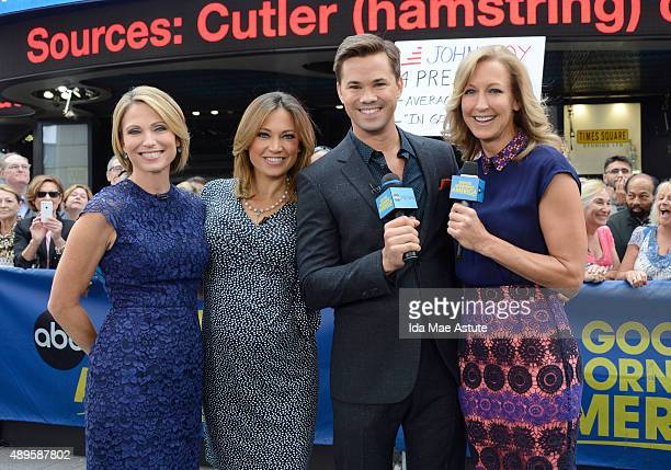 AMERICA Andrew Rannells visits GOOD MORNING AMERICA 9/22/15 airing on the ABC Television Network