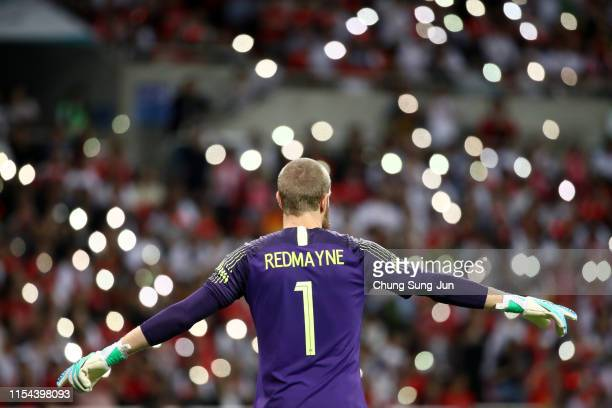 Andrew Redmayne of Australia in action during the international friendly match between South Korea and Australia at Busan Asiad Main Stadium on June...