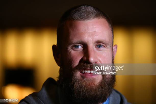 Andrew Redmayne of Sydney speaks to the media during the Sydney FC A-League Grand Final celebrations at The Star on May 20, 2019 in Sydney, Australia.