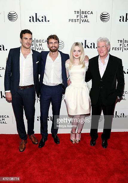 Andrew Renzi Theo James Dakota Fanning and Richard Gere attend the world premiere of Franny during the 2015 Tribeca Film Festival at BMCC Tribeca PAC...