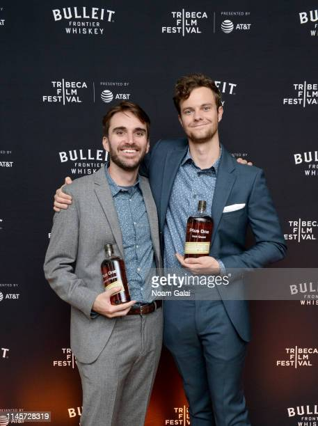 Andrew Rhymer and Jack Quaid attend the Plus One Premiere After Party at the Bulleit 3D printed Frontier Lounge during Tribeca Film Festival on April...