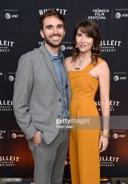 Andrew Rhymer and Scarlett Bermingham attend the Plus One Premiere After Party at the Bulleit 3D printed Frontier Lounge during Tribeca Film Festival...