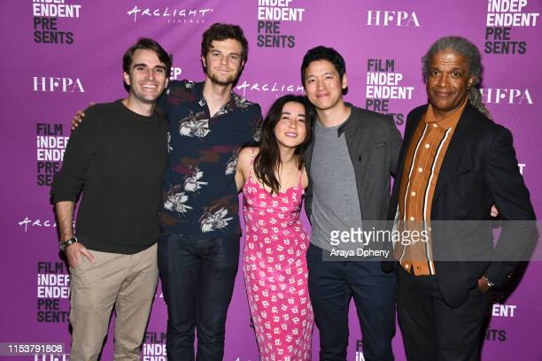 Andrew Rhymer Jack Quaid Maya Erskine Jeff Chan and Elvis Mitchell at Film Independent Presents Plus One special screening and QA at ArcLight...