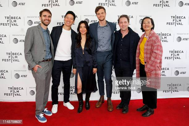 Andrew Rhymer Jeff Chan Maya Erskine Jack Quaid Beck Bennett and Rosalind Chao attend the Plus One screening 2019 Tribeca Film Festival at SVA...