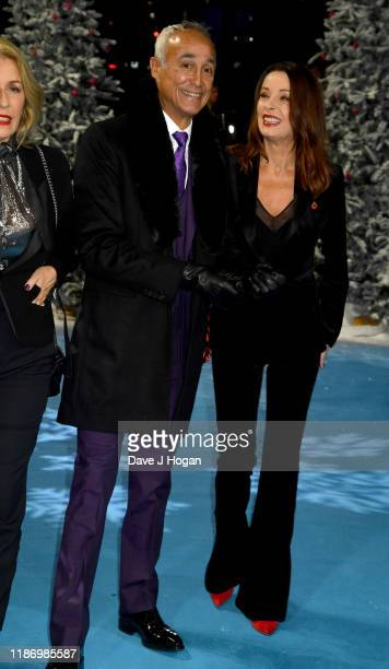 Andrew Ridgeley and Keren Woodward attend the Last Christmas UK Premiere at BFI Southbank on November 11 2019 in London England