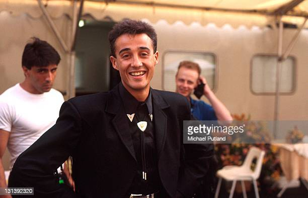 Andrew Ridgeley of Wham backstage at 'The Final Concert' Wembley Stadium London 28th June 1986