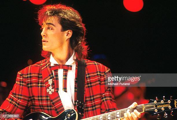 Andrew Ridgeley of Wham performs on stage Japan January 1985