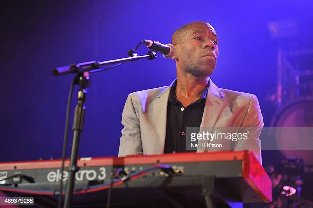 Andrew Roachford of Mike And The Mechanics at Sheffield City Hall on April 11, 2015 in Sheffield, United Kingdom.