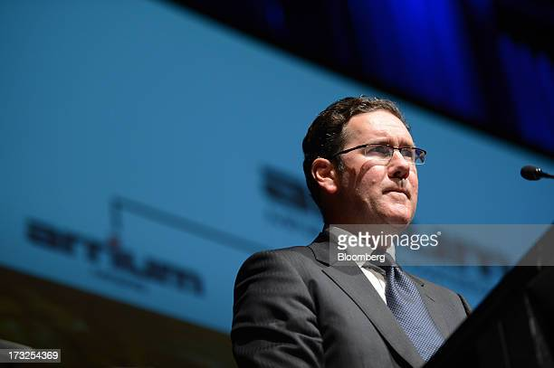 Andrew Roberts chief executive officer of Arrium Ltd pauses while speaking during an event hosted by the Melbourne Mining Club in Melbourne Australia...