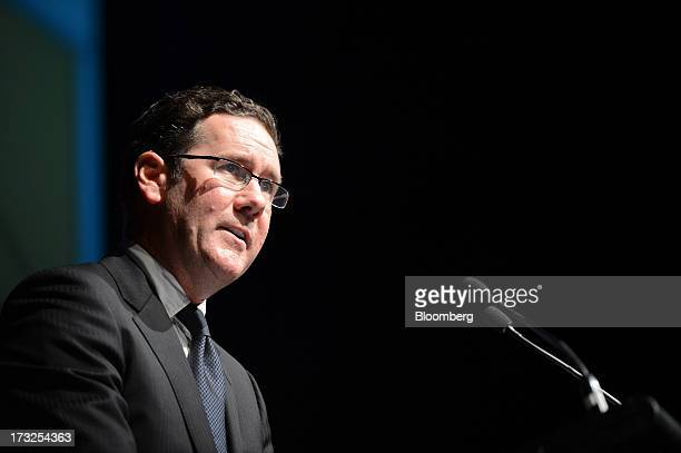 Andrew Roberts chief executive officer of Arrium Ltd speaks during an event hosted by the Melbourne Mining Club in Melbourne Australia on Thursday...