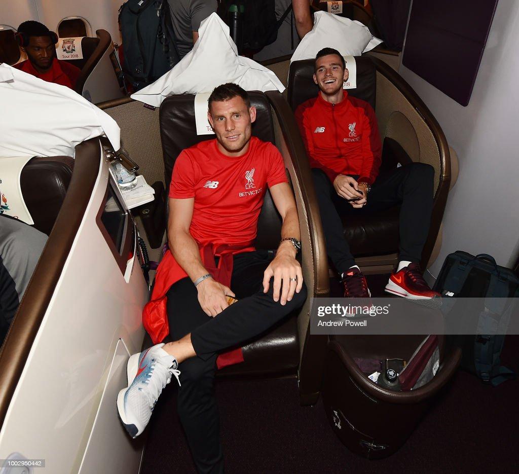 Liverpool Departs for Pre-Season : News Photo