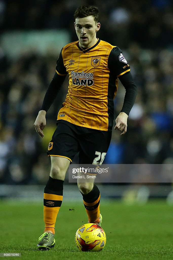 Andrew Robertson of Hull City FC during the Sky Bet Championship League match between Leeds United FC and Hull City FC on December 5, 2015 in Leeds, United Kingdom.