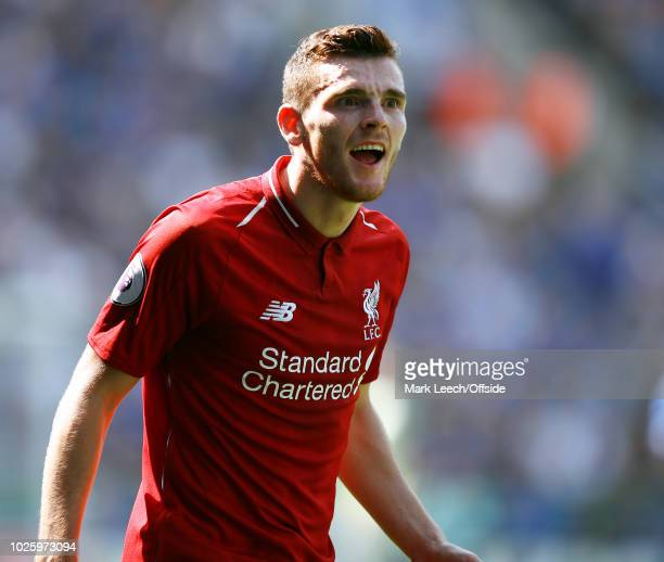 Andrew Robertson of Liverpool during the Premier League match between Leicester City and Liverpool FC at The King Power Stadium on September 1 2018...