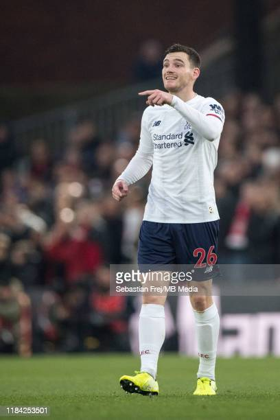 Andrew Robertson of Liverpool FC during the Premier League match between Crystal Palace and Liverpool FC at Selhurst Park on November 23 2019 in...