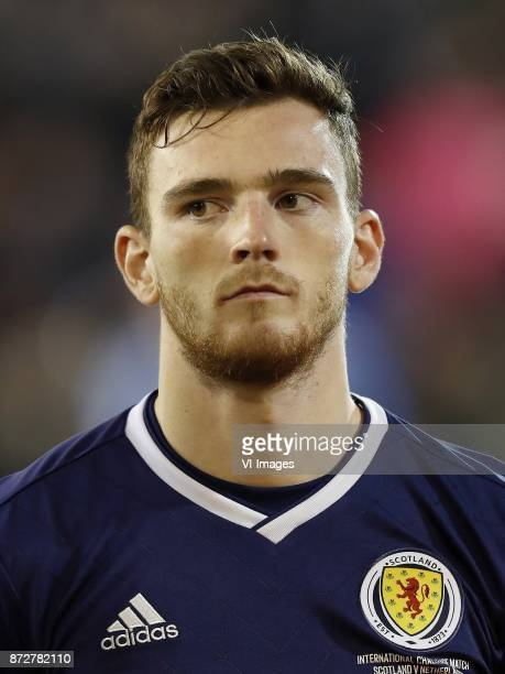 Andrew Robertson of Scotland during the friendly match between Scotland and The Netherlands on November 09 2017 at Pittodrie Stadium in Aberdeen...