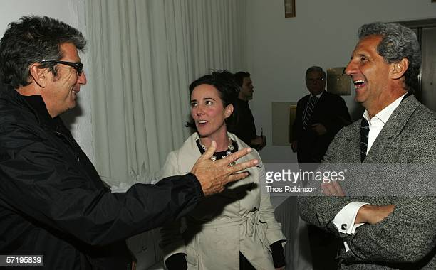 Andrew Rosen and Designers Kate Spade and Joseph Abboud attend the 2006 CFDA Fashion Awards Nominations at Rooftop Gardens Rockefeller Center on...