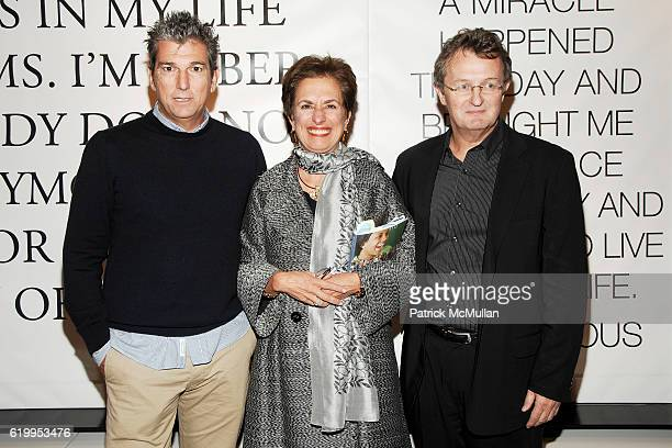 Andrew Rosen Rose Marie Bravo and Howard Meitiner attend WYCLEF JEAN hosts PHOENIX HOUSE Book Launch with THEORY at Theory Gansevoort on October 29...