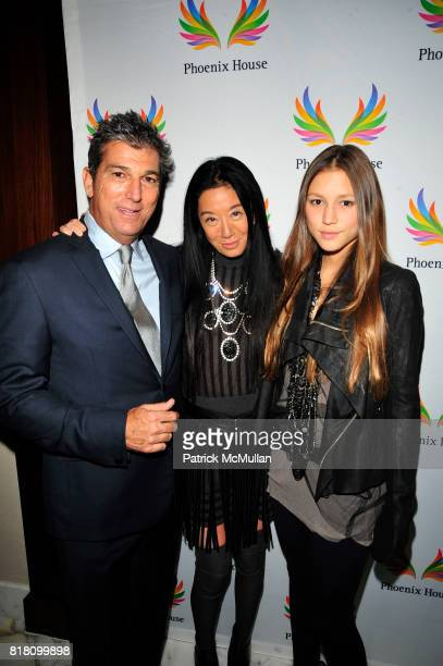 Andrew Rosen, Vera Wang and Josephine Becker attend PHOENIX HOUSE Fashion Award Dinner at Empire Ballroom Grand Hyatt NYC on November 2, 2010 in New...
