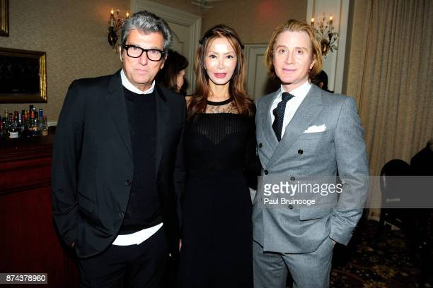 Andrew Rosen Yung Hee Kim and Eric Javits attend In Celebration of the life of Lee Mellis at 21 Club on November 14 2017 in New York City