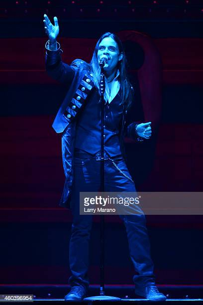 Andrew Ross of TransSiberian Orchestra performs at BBT Center on December 12 2014 in Sunrise Florida