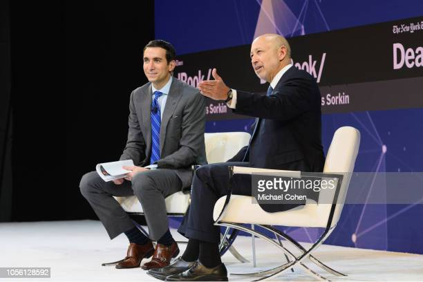 Andrew Ross Sorkin Editor at Large and Columnist The New York Times and Lloyd Blankfein Senior Chairman The Goldman Sachs Group Inc speak onstage...