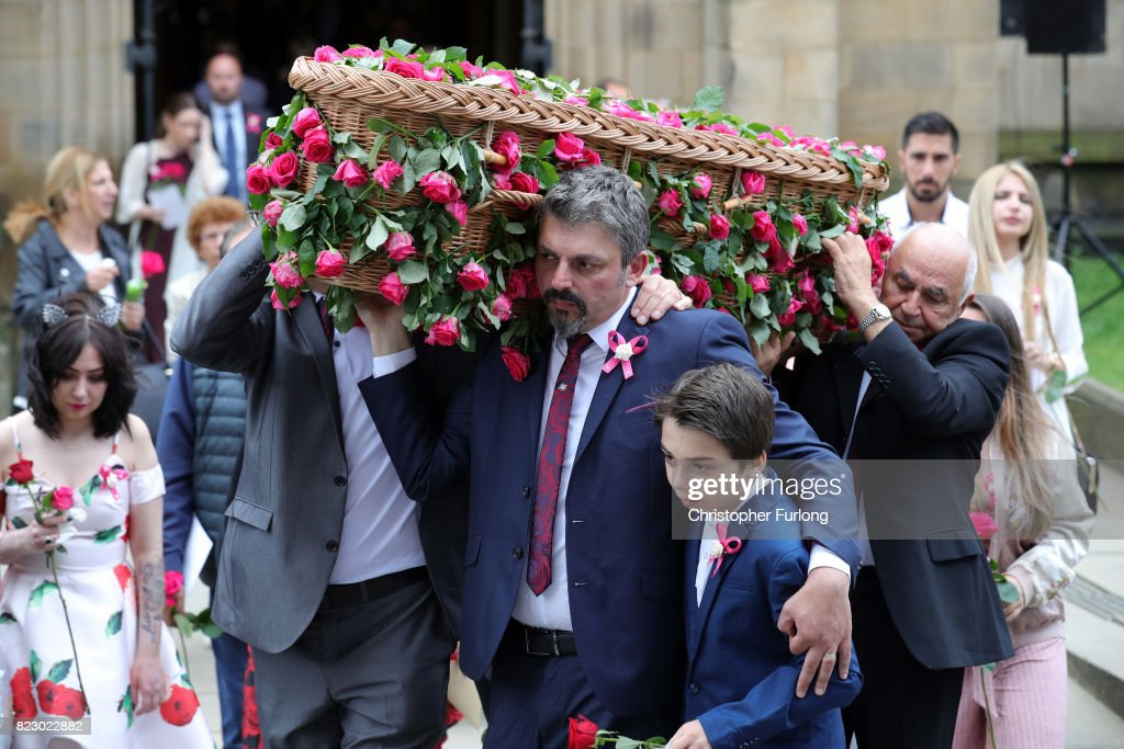 Funeral Takes Place Of Saffie Roussos The Youngest Victim Of The Manchester Terror Attack : News Photo
