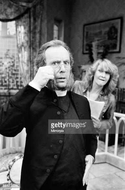 Andrew Sachs is playing the very Rev augustin Jedd in a Cambridge Theatre production of 'Dandy Dick' he is pictured with director Sheila Hancock 24th...