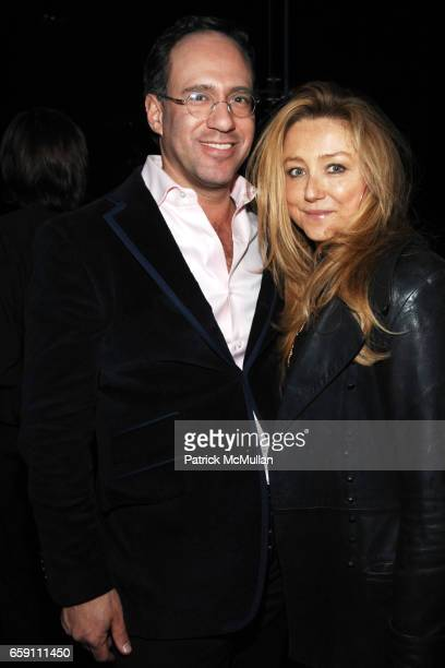 Andrew Saffir and Caroline Berthet attend THE CINEMA SOCIETY LINKS OF LONDON host the after party for THE MYSTERIES OF PITTSBURGH at Cooper Square...