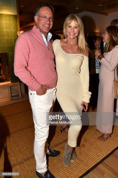 Andrew Saffir and Christie Brinkley attend Cocktails to Learn About The Sag Harbor Cinema Project at Le Bilboquet on June 16 2017 in Sag Harbor New...